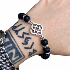 Celtic knot irish lava rock oil diffuser bracelet